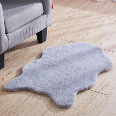 Jackrabbit Faux Fur Rug - Light Grey