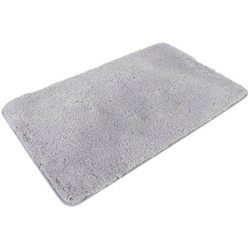 Miram Microfibre Bath Mat - Silver