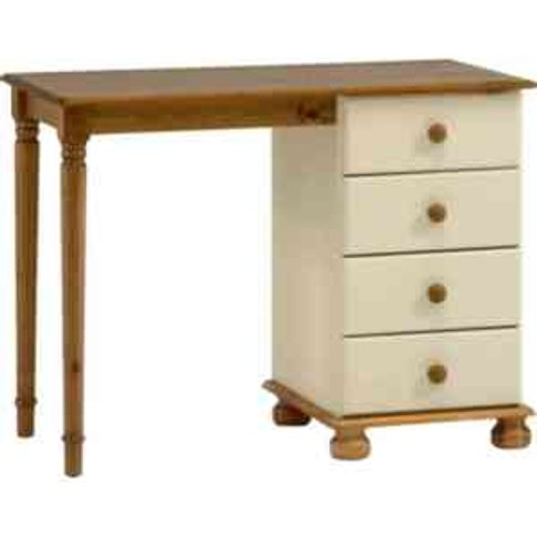Richmond Four Drawer Dressing Table - Cream & Pine