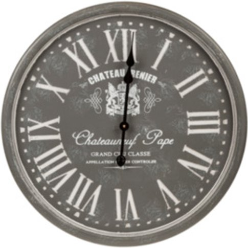 Chateau Renier Clock - Grey
