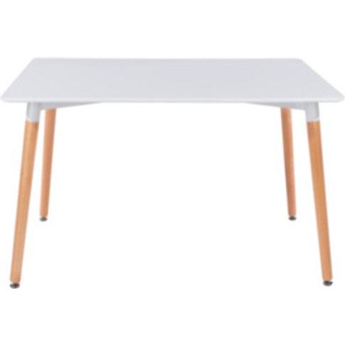 Aspen Rectangular Dining Table - White & Beech