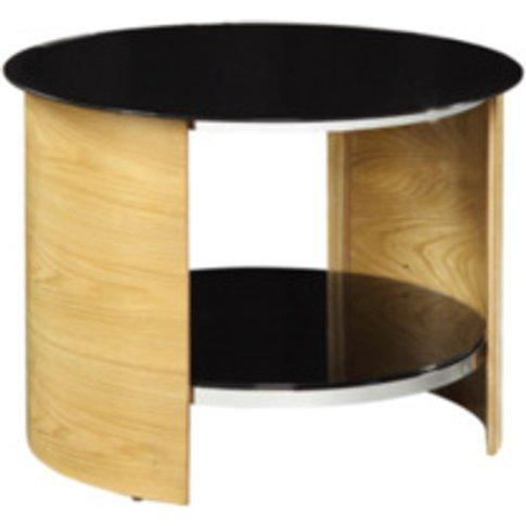 Circular Lamp Table - Oak