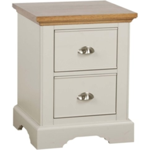 Dalton Two Drawer Bedside Table - Cream