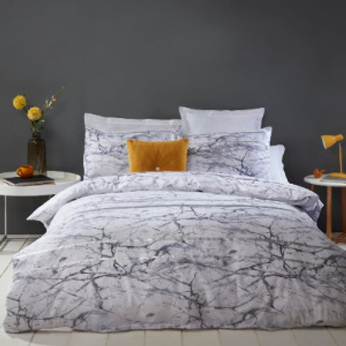 Palazzo Marble Printed Duvet Cover And Pillowcase Se...