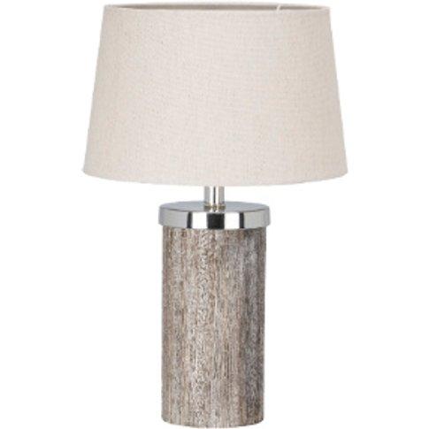 Rustic Wood Effect Table Lamp - Natural