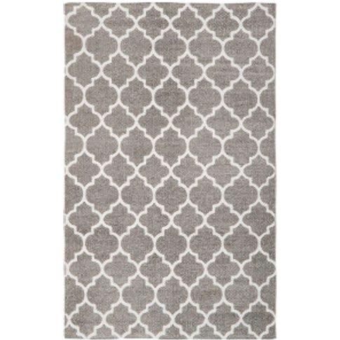 Moroccan Trellis Rug - Grey