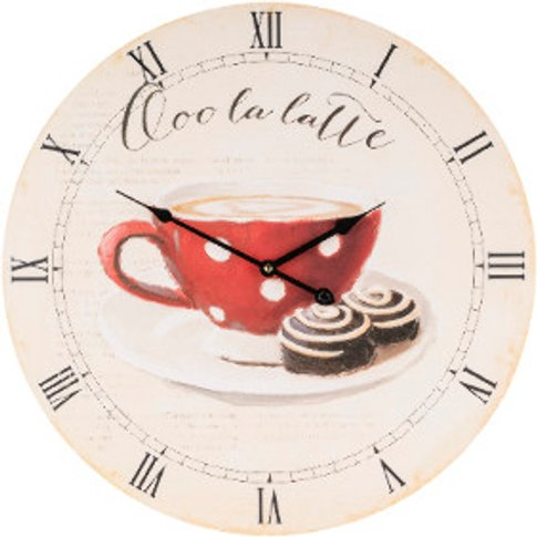 Ooh La Latte Coffee Clock