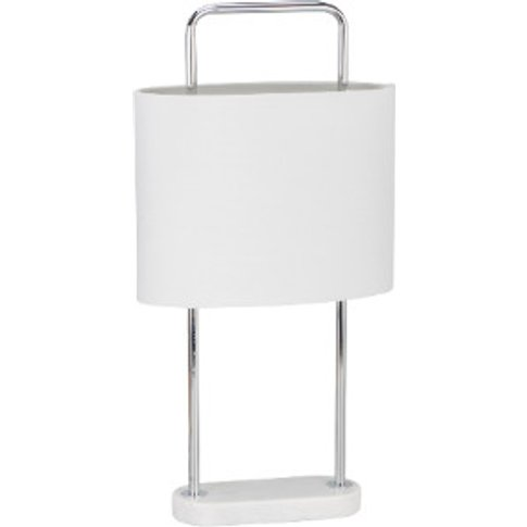 Oval Marble Table Lamp