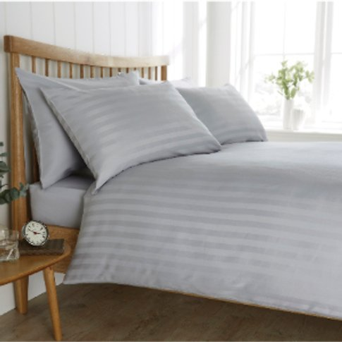Satin Stripe 200 Thread Count Duvet Cover And Pillow...