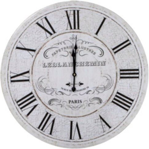 Vintage Paris Clock - White