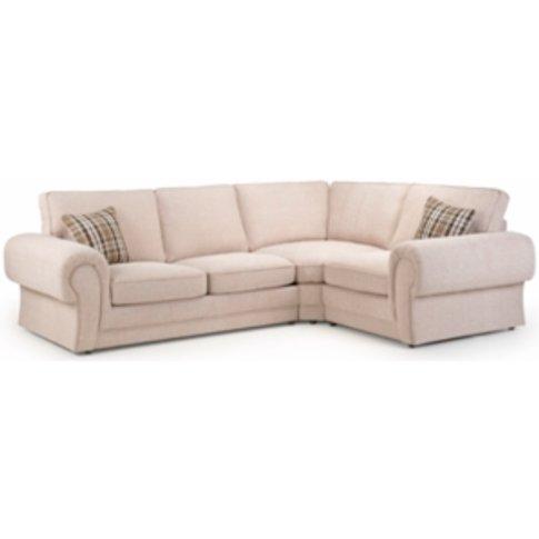 Wilcot Right-Hand Facing Check Corner Sofa - Beige C...