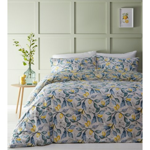 Lemon Tree Duvet Cover And Pillowcase Set  - Natural...