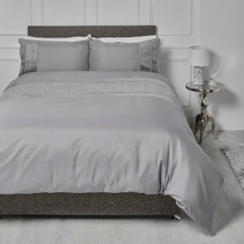 Crosshatch Embossed Panel Duvet Cover and Pillowcase...