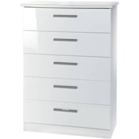 Kensington Five Drawer Chest - White