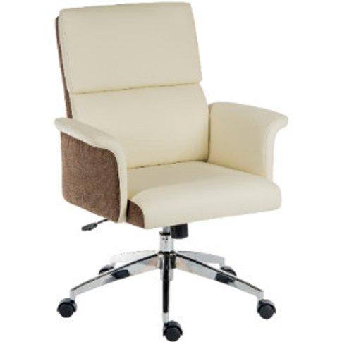 Elegance Medium-Back Office Chair - Cream