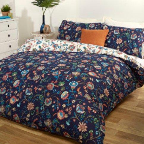 Folk Multi Printed Duvet Cover and Pillowcase Set - ...