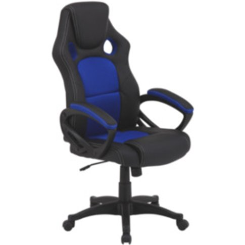 Mercury Office Chair - Blue & Black
