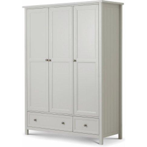 Maine Three Door Wardrobe - Dove Grey