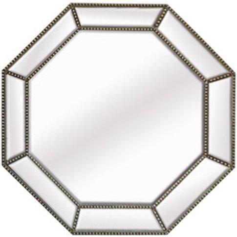 Silver Beaded Octagon Mirror