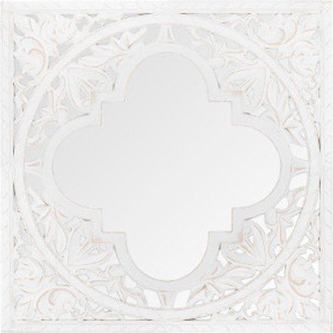 Ornate Quatrefoil Mirror - White