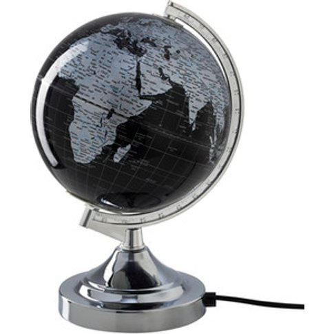 Grey Globe Table Lamp - Grey