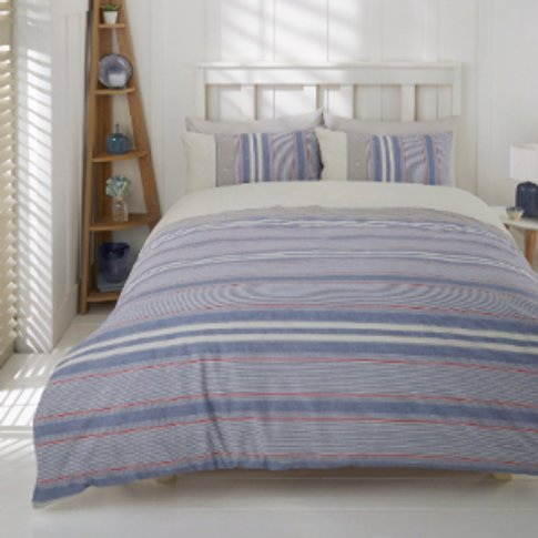 Marlow Stripe Duvet Cover And Pillowcase Set - Double