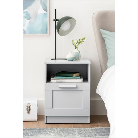 Flynn Bedside Table Studio Collection By Next -  Grey
