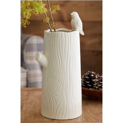 Next Tree Shaped Ceramic Vase -  Cream