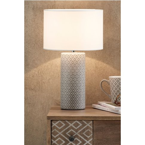 Next Geo Large Table Lamp -  Grey