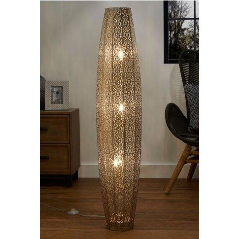 Next Large Oriana 3 Light Floor Lamp -  Silver