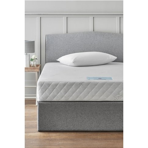Next Rolled Memory Foam Medium Mattress -  White