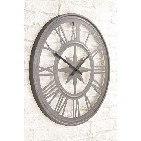 Next Outdoor Compass Wall Clock -  Black