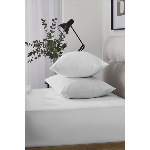 Next Cool Touch Tencel Blend Deep Fitted Sheet -  White