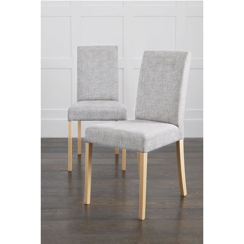 Next Set Of 2 Rae Dining Chairs With Natural Legs - ...