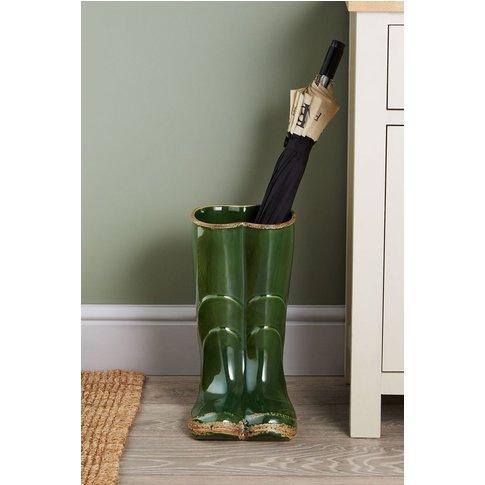 Next Wellington Boots Ceramic Vase -  Green