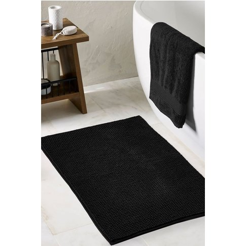 Next Bobble Bath Mat -  Black