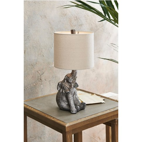Next Elephant Table Lamp -  Silver