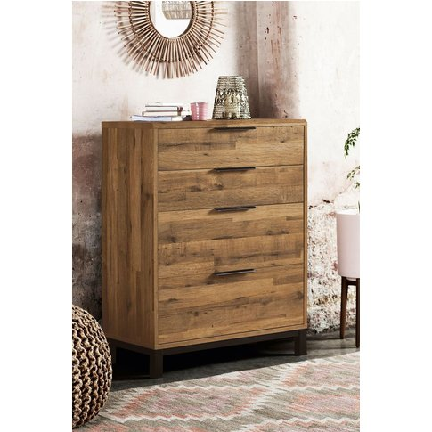 Next Bronx Metal 4 Drawer Chest -  Brown