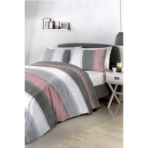 Fusion Betley Duvet Cover And Pillowcase Set -  Pink