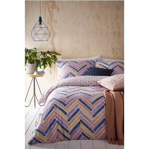 Riva Home Parquet Geo Duvet Cover and Pillowcase Set...