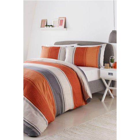 Fusion Betley Duvet Cover and Pillowcase Set -  Orange