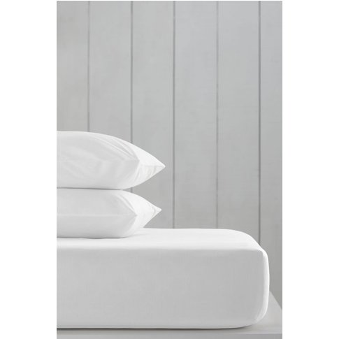 Next Cotton Rich Fitted Sheet -  White
