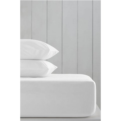 Next Cotton Rich Deep Fitted Sheet -  White