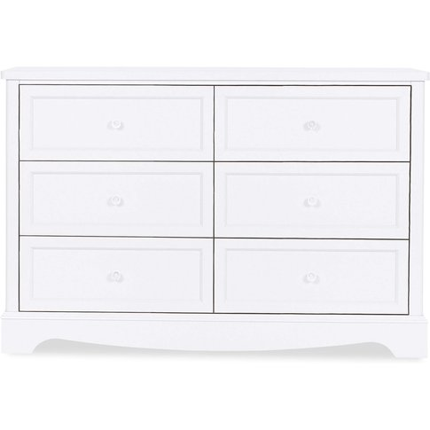 Girls Next Amelia Wide 6 Drawer Chest -  Grey