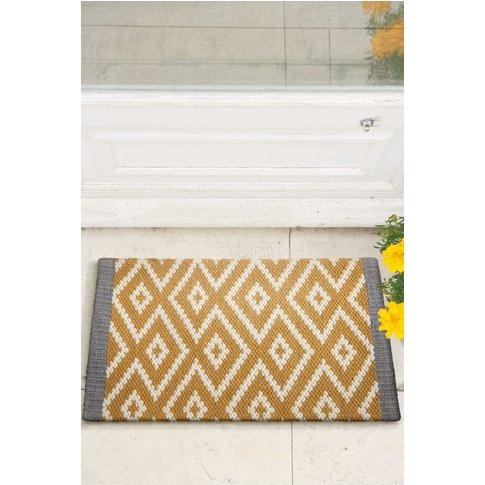 Next Diamond Geo Doormat -  Yellow
