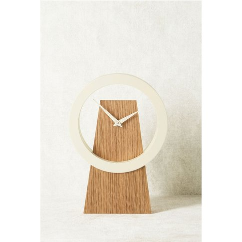 Next Contemporary Wooden Mantle Clock -  Natural