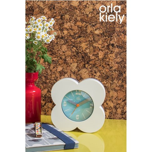 Orla Kiely Floral Alarm Clock -  Cream