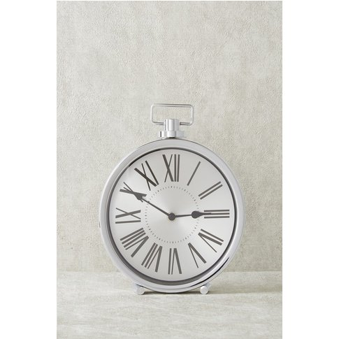 Next Collection Luxe Mantle Clock -  Silver