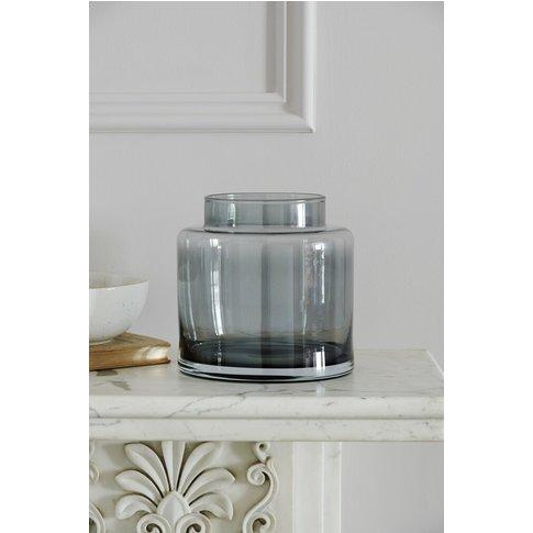 Next Smoke Grey Glass Vase -  Grey