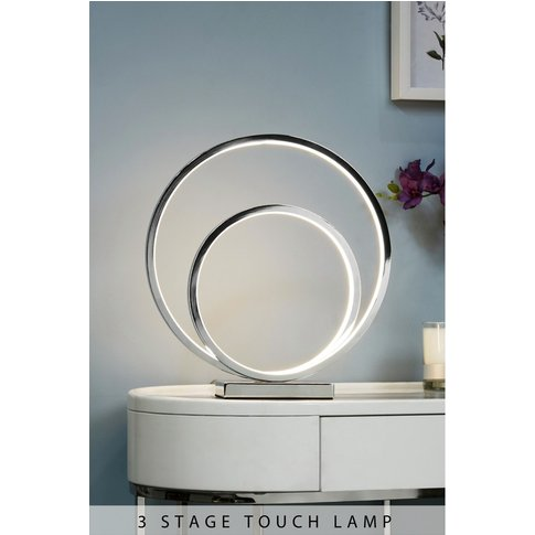 Next LED Eternity Touch Table Lamp -  Chrome